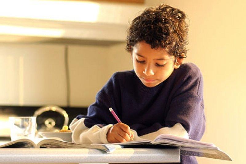 anak fokus belajar