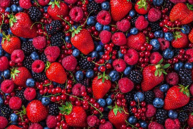berbagai berries serat