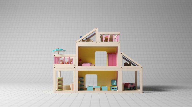 bermain peran sambil belajar dengan 5 mainan miniatur miniatur rumah