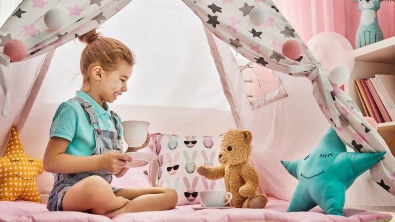 bermain peran sambil belajar dengan 5 mainan miniatur miniatur tea set