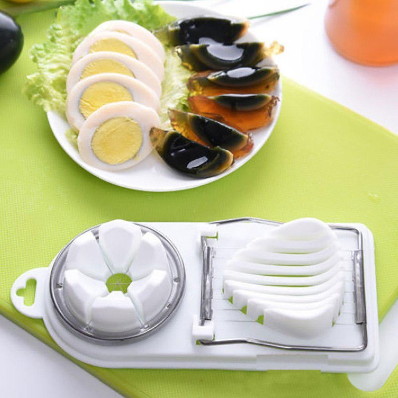 boiled egg slicer stainless steel eggs cutter 2 in 1 eleven slices mushroom tomato kitchen vegetable
