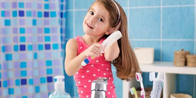 buat anak menjadi mandiri dengan 5 tips merawat rambut sendiri 5