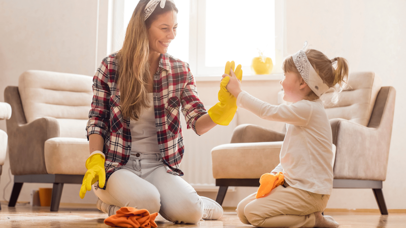 can young kids have chores my cleaning connection