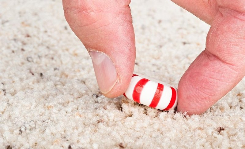 candy on carpet