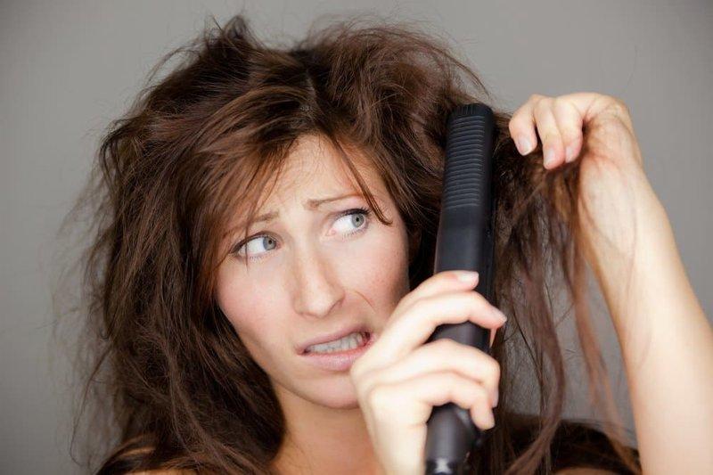 kesalahan catok rambut