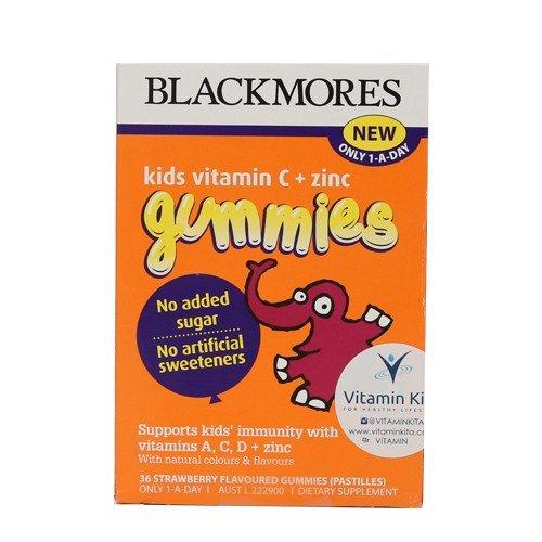 blackmores vitamin c + zinc gummies