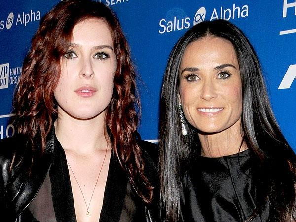 celebrity mother and daughter time demi rumer