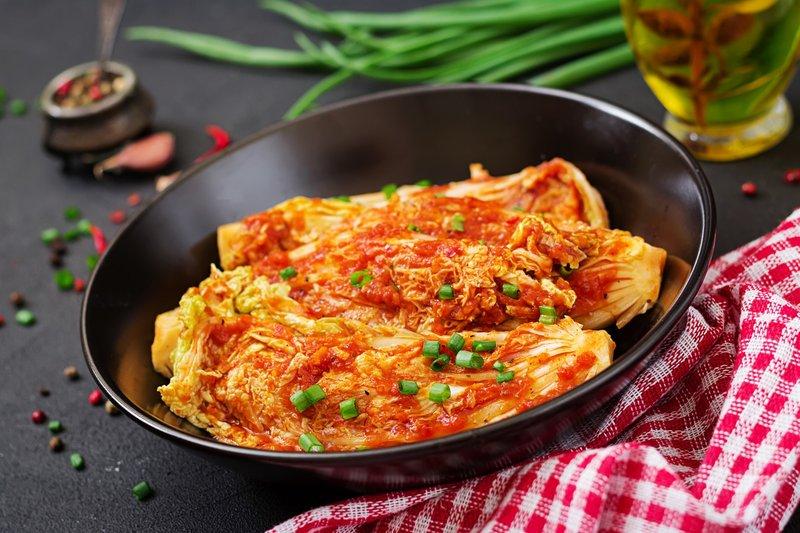 Kimchi adalah makanan fermentasi terkenal dari Korea