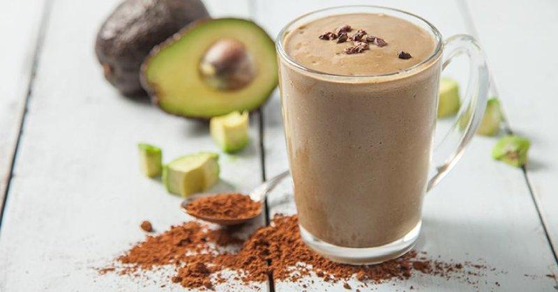 chocolate avocado smootie