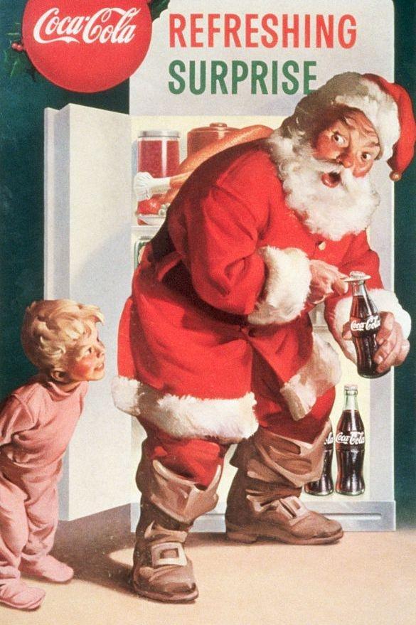 coca cola memainkan peran besar dalam gambar santa