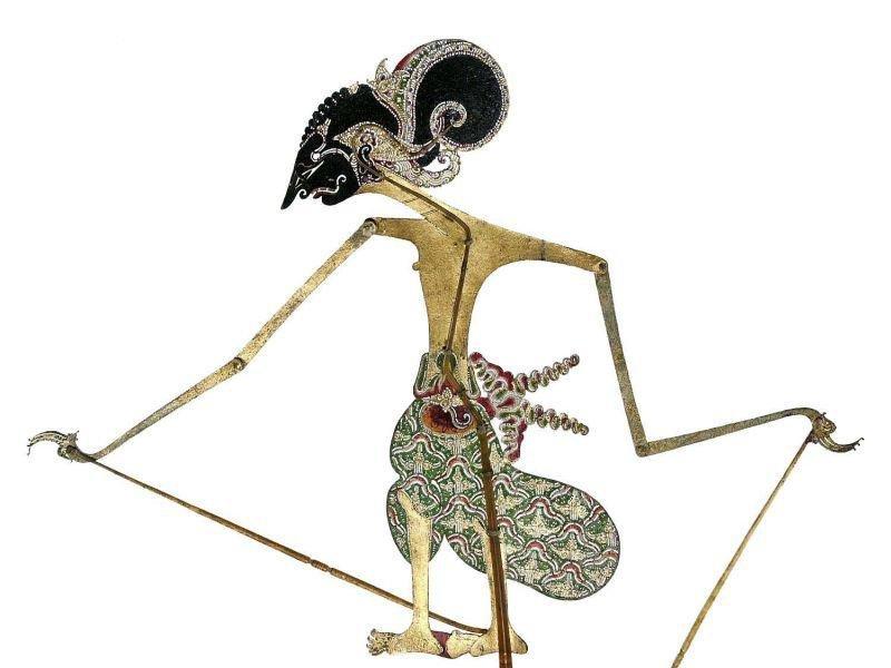 collectie tropenmuseum wajangpop voorstellend yudhistira tmnr 4833 106