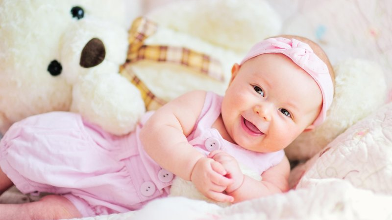 cute baby teddy bear 3840x2160