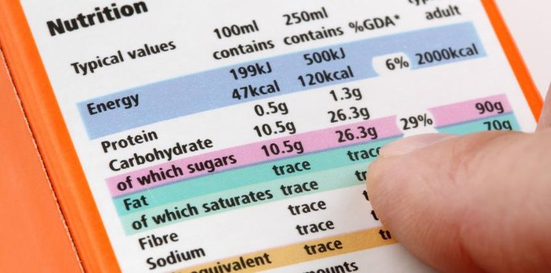 daftar nutrisi