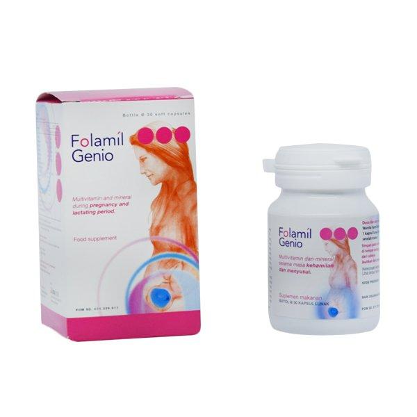 Folamil Genio asam folat dosis tinggi buatan Indonesia
