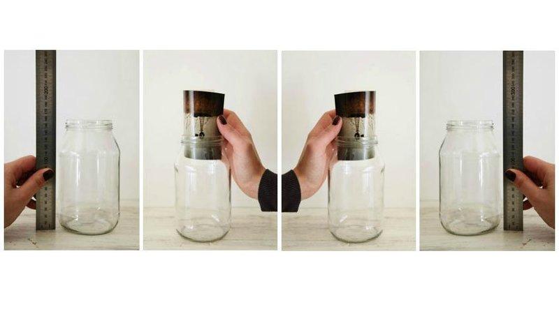 diy bingkai foto dari toples gelas c