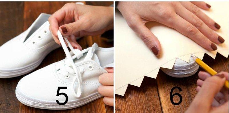diy missoni shoes step3