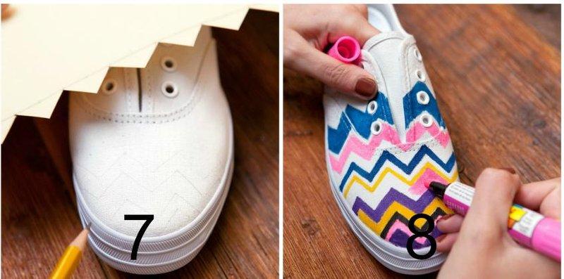 diy missoni shoes step4