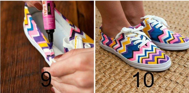 diy missoni shoes step5