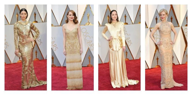 dress gold oscars