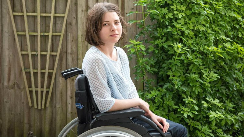 edith in garden with wheelchair jpeg 1600x900