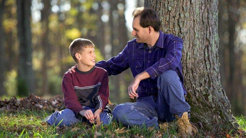 father teaches son