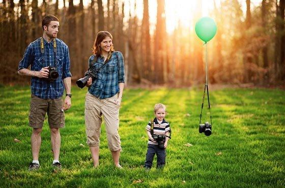 tips mengambil foto keluarga sendiri