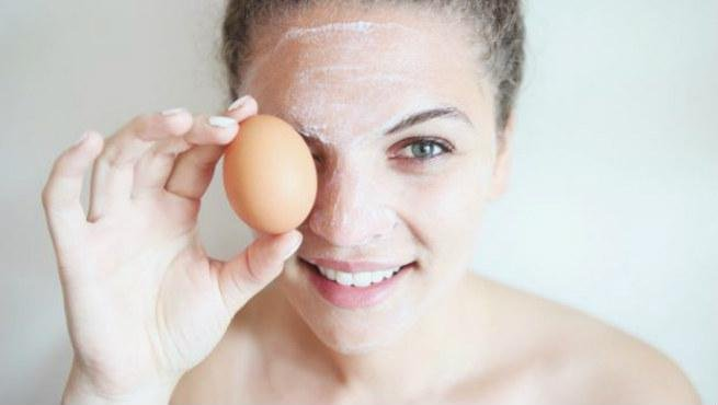 homemade egg face pack