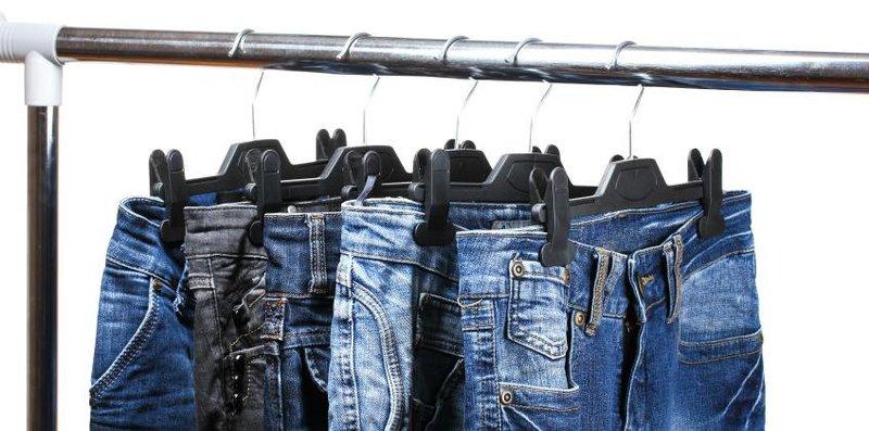 jeans digantung