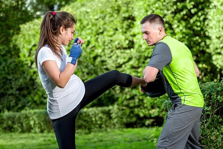 kickboxing ibu hamil