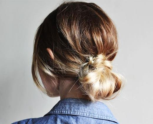 low messy hair bun
