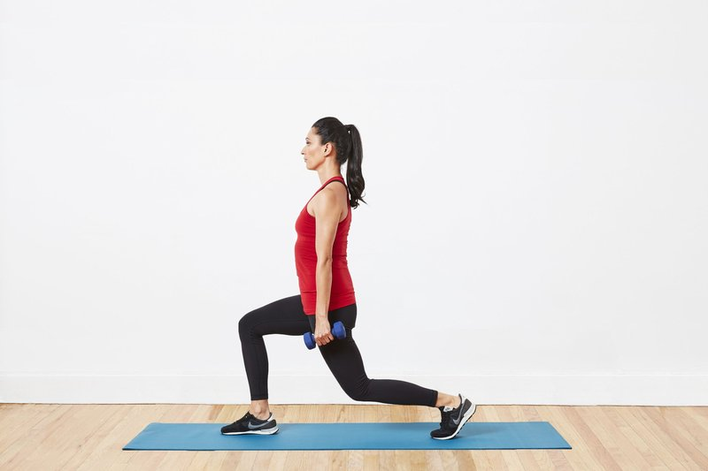 lunges dumbell