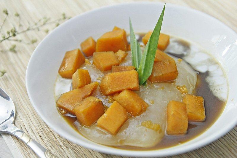 makanan khas maluku - bubur sagu ubi