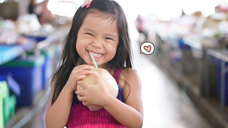 manfaat air kelapa bagi anak