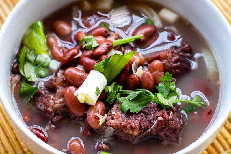 menu makan sahur kaya vitamin-sop kacang merah