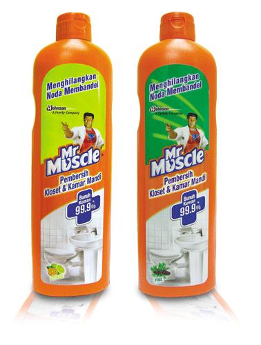 Mr. Muscle pembersih toilet dan lantai