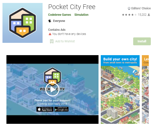 offline game Android Pocket City Free.png