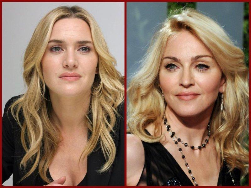 para seleb hollywood ini mirip tapi tak kembar kate winslet dan madonna, thetrentonline.com