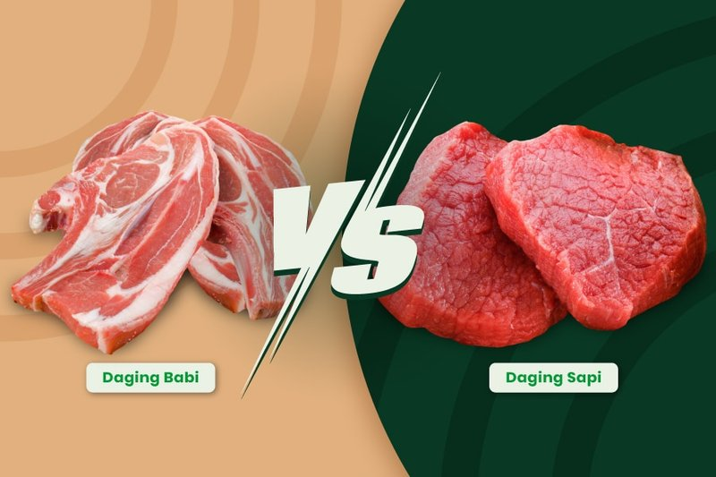 perbedaan daging sapi dan babi