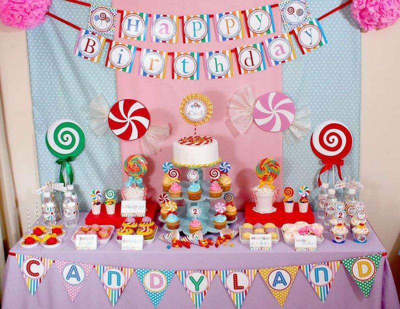 pesta permen dekorasi ulang tahun anak perempuan