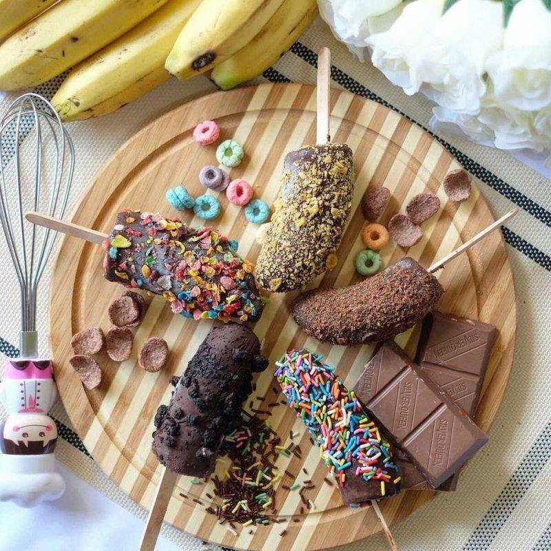 resep es pisang cokelat enak