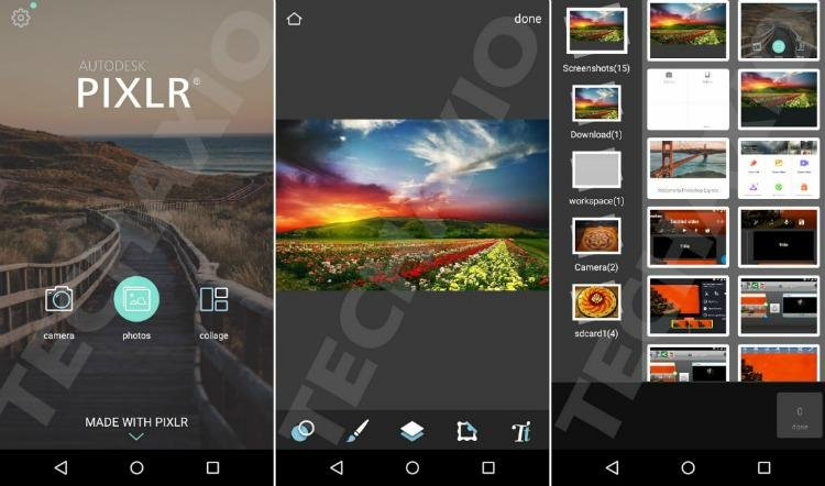 pixlr android app screenshots