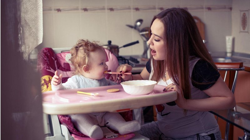 porsi makanan bayi