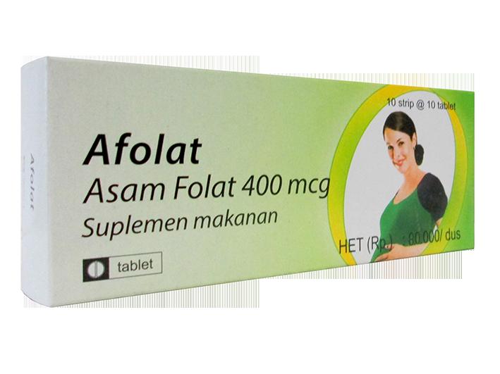 Afolat salah satu suplemen asam folat buatan Indonesia