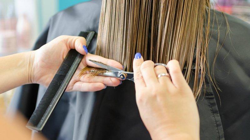 rambut diwarna hair trimmig
