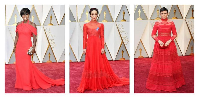 red dresses oscars