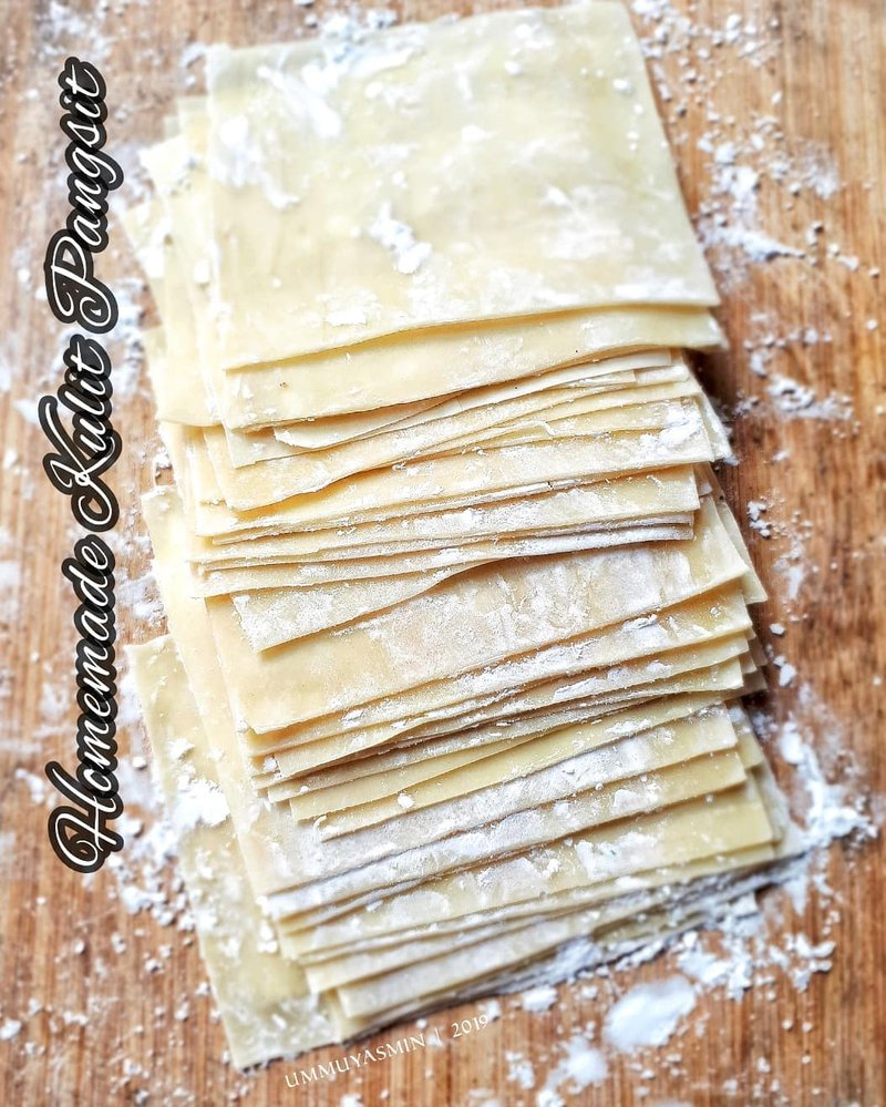 kulit pangsit homemade