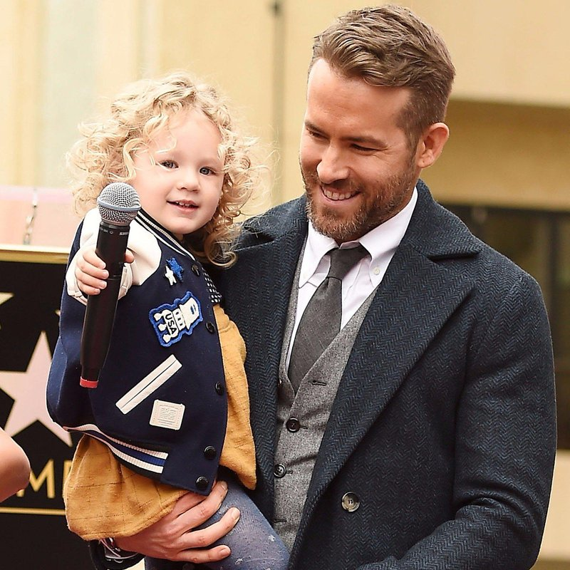 ryan reynolds blake lively daughter james walk fame