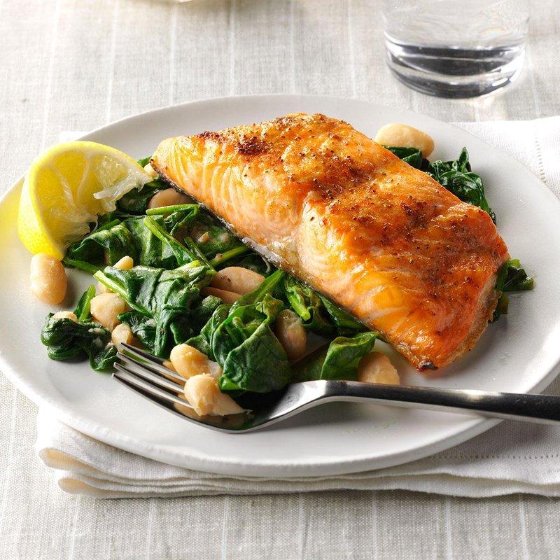 salmon saus bawang putih
