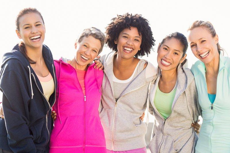 perempuan olahraga bersama