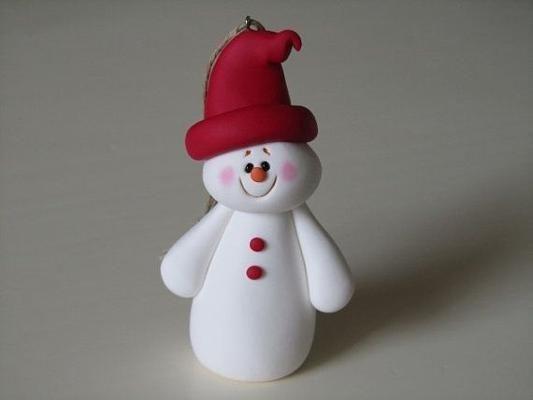 snowman clay